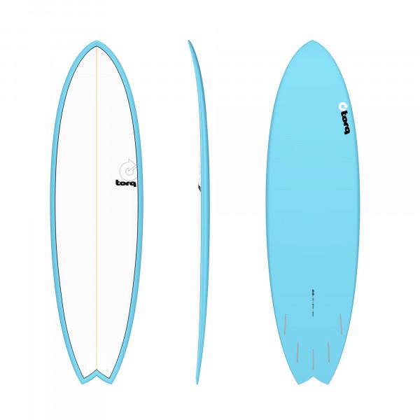Surfboard TORQ Epoxy TET 6.6 Fish Blue Pinline