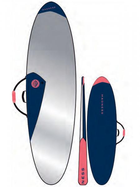 "Madness Boardbag PE 6.8"" Funboard Blau/Rot"