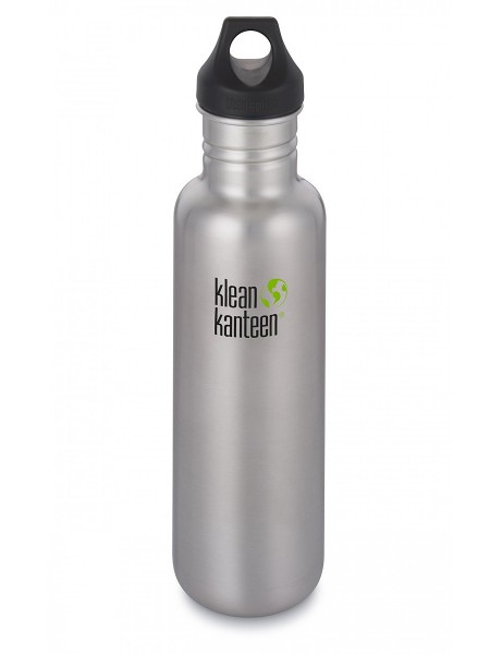 Klean Kanteen Classic 800 ml Trinklflasche Edelstahl / Loop Cap