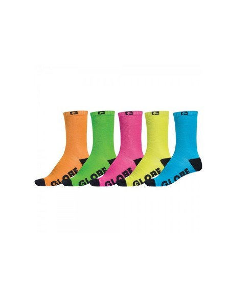 Globe Neon Crew 5-Pack Socken