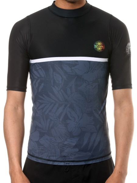 Rip Curl All Over black Rashguard Shirt