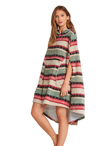 Billabong Womens Hooded Poncho sugar pine