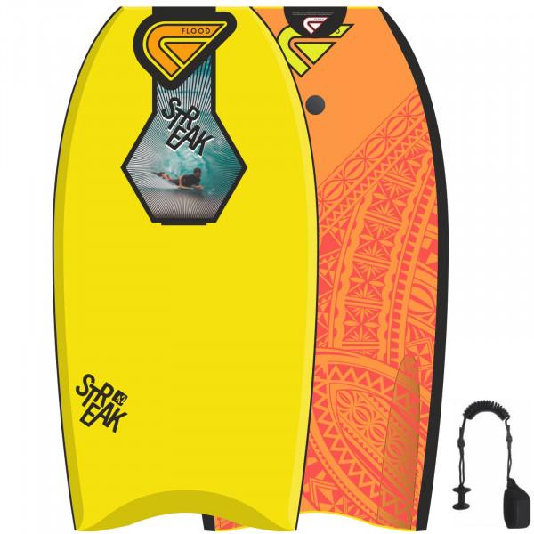 FLOOD Bodyboard Streak 42 Yellow Orange Maori