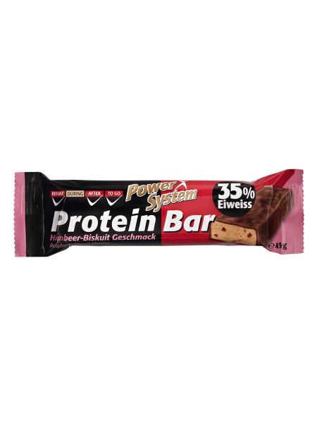 PowerSystem Protein Bar Dark Himbeer Biskuit Proteinriegel