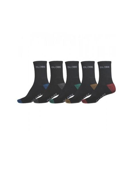 Globe Ingles Crew 5-Pack Socken