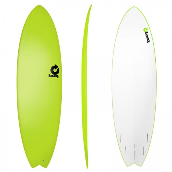 Surfboard TORQ Softboard 6.3 Fish Grün