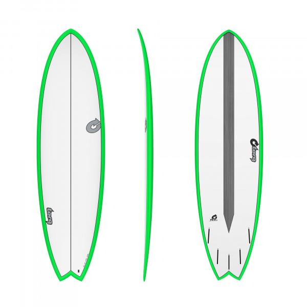 Surfboard TORQ Epoxy TET CS 6.6 Fish Carbon Green