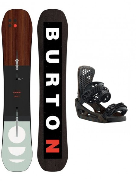 Burton Custom Flying V + Genesis EST Snowboard Set
