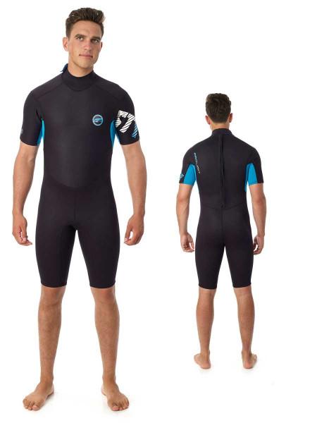 Prolimit Style Neoprenshorty schwarz/blau