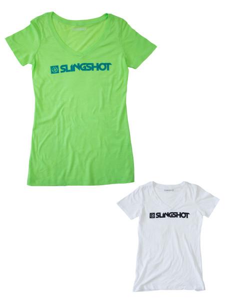 Slingshot Woman Branded V T-Shirt