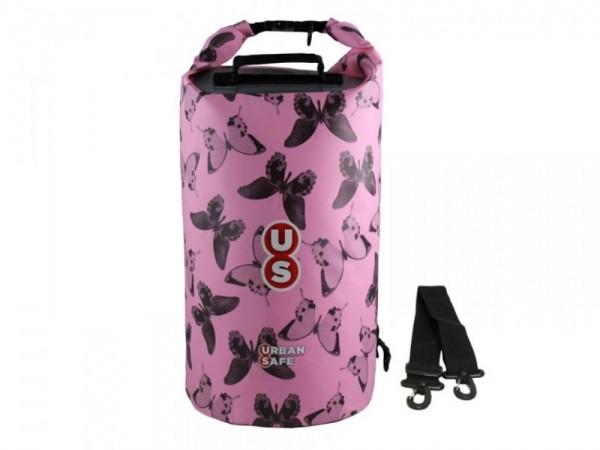Urban Safe wasserdichte Tasche Packsack 20 L Pink