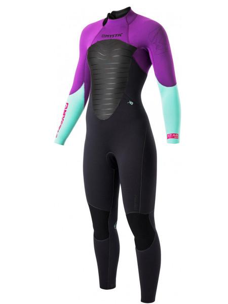 Mystic Star Fullsuit 5/4 BackZip purple Women Neopren