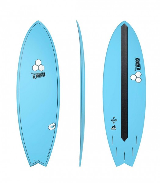 "CHANNEL ISLANDS X-lite Pod Mod 5'10 ""blau Surfboard"