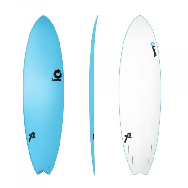 Surfboard TORQ Softboard 7.2 Fish Blue