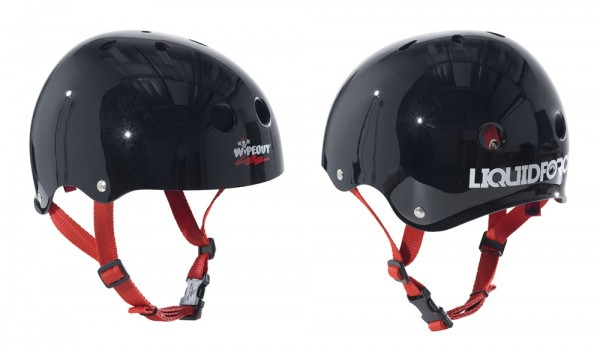 Liquid Force Wipeout Kids Helmet black