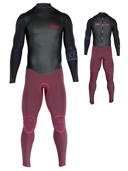 ION Strike Select Semidry 4,5/3,5 DL Wetsuit black/red