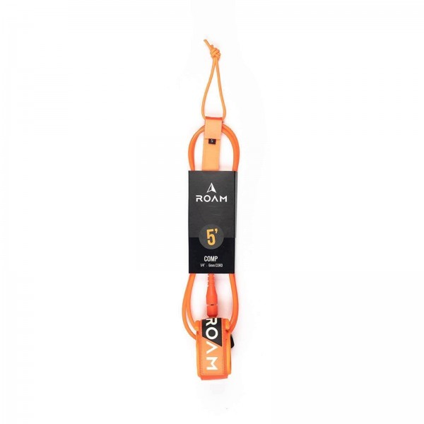"ROAM 5'0"" Orange Comp Surf Leash"