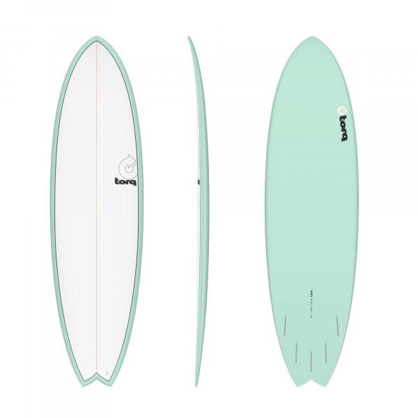 Surfboard TORQ Epoxy TET 6.10 Fish Seagreen