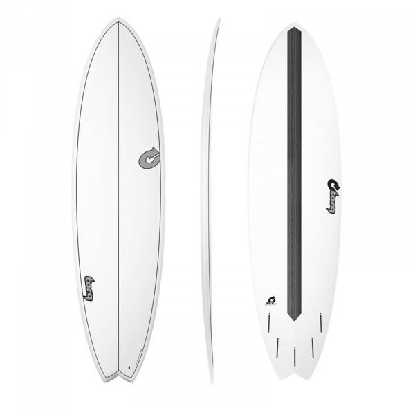 """TORQ 7'2"""" Epoxy TET CS Fish Carbon Surfboard"""