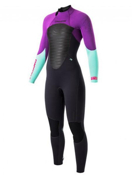 Mystic Star Fullsuit 3/2 BackZip purple Women Neopren