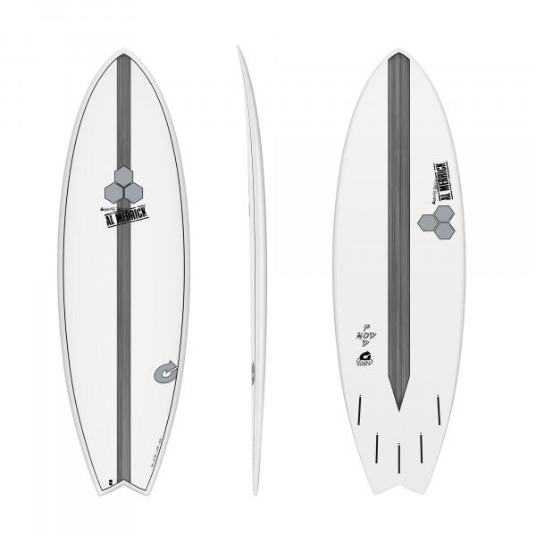 Surfboard CHANNEL ISLANDS X-lite Pod Mod 6.6 weiss
