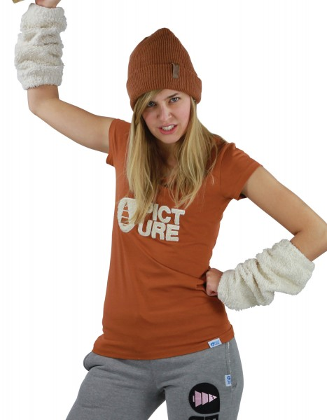 Picture Basement Plush Women T-Shirt caramel