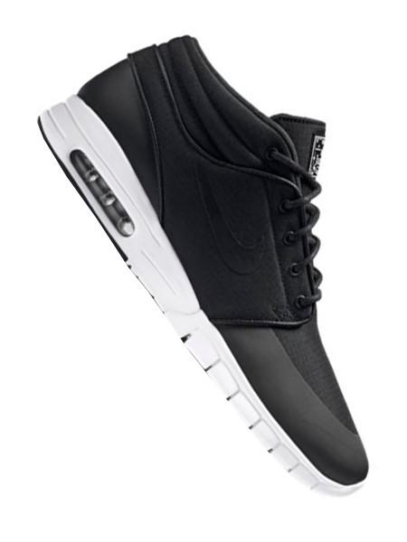 Nike SB Stefan Janoski Max Mid black/black - metallic silver - white