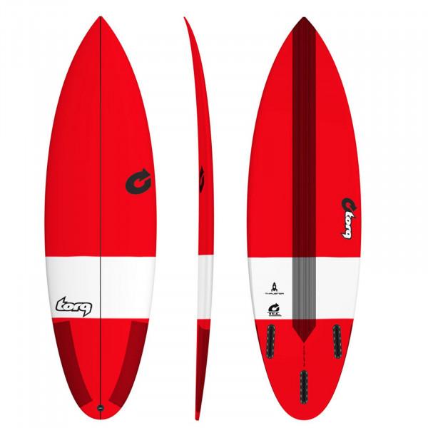 """TORQ 6'6"""" Epoxy TEC Thruster Rot Surfboard"""