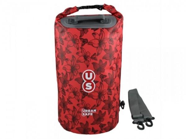 Urban Safe wasserdichte Tasche Packsack 20 L Rot