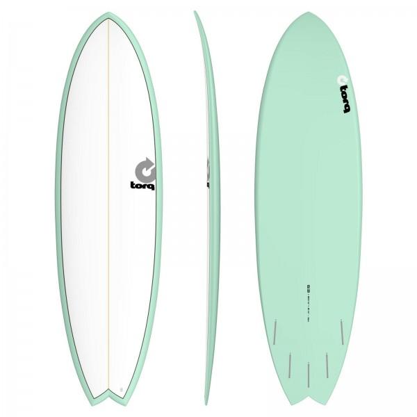 Surfboard TORQ Epoxy TET 6.3 Fish White Seagreen