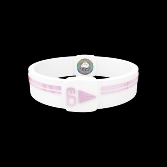 EQ - Hologramm Armband white/rose