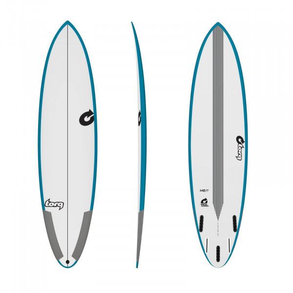 Surfboard TORQ Epoxy TEC M2-S 7.4 Rail Grünblau