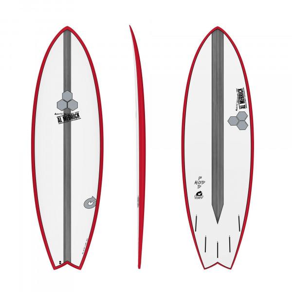 Surfboard CHANNEL ISLANDS X-lite Pod Mod 5.10 Rot