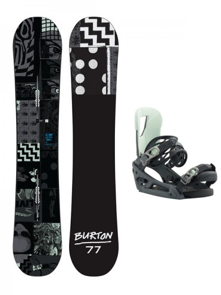 Burton Amplifier + Cartel EST Snowboard Set