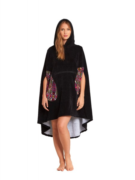 Billabong Hooded Poncho Women black