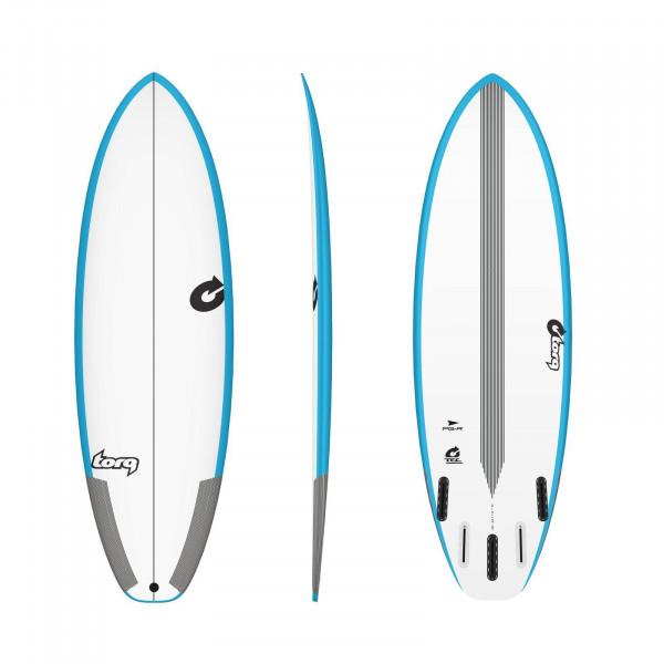 Surfboard TORQ Epoxy TEC PG-R 6.4 Rail Blau
