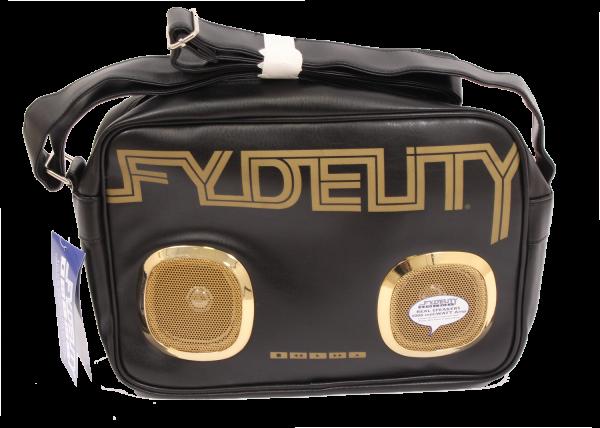 Fydelity Namesake G-Force Shoulder Bag black/gold