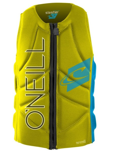 O'Neill Slasher Comp yellow/sky Prallschutzweste
