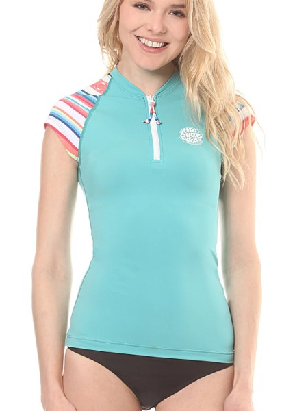 Rip Curl Allover Zip Women Rashguard Shirt