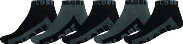Globe Black/Grey Ankle 5-Pack Socken