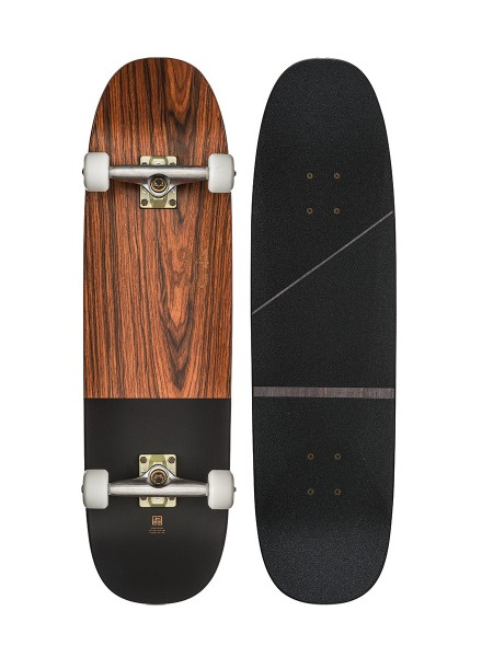 Globe Half Dip Skateboard rosewood/black 2017