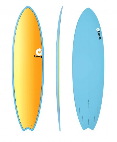 """TORQ 7'2"""" Epoxy TET Fish Full Fade Surfboard"""
