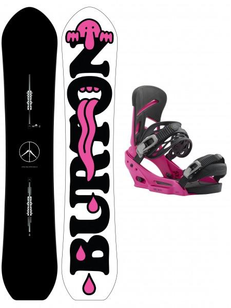 Burton Kilroy Custom + Mission EST Snowboard Set