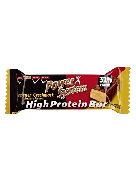 PowerSystem High Protein Bar Banana Proteinriegel 10er Pack