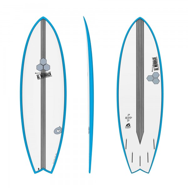 Surfboard CHANNEL ISLANDS X-lite Pod Mod 6.6 Blau