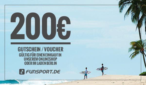 Funsport.de Geschenk-Gutschein - 200,- EUR