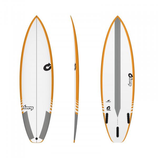 Surfboard TORQ Epoxy TEC Comp 5.8 Rail Gelb
