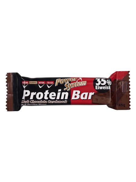 PowerSystem Protein Bar Dark Chocolate Proteinriegel