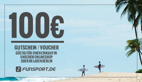 Funsport.de Geschenk-Gutschein - 100,- EUR