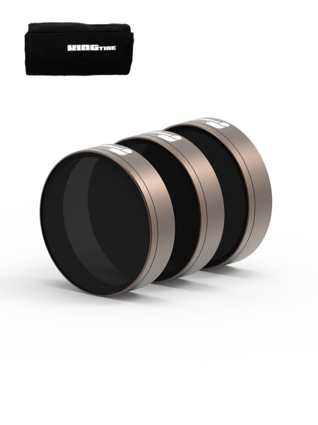 PolarPro DJI Phantom 4 Pro - Cinema Series - Shutter Collection 3-Pack Filter + Kingtide Rollcase Sm